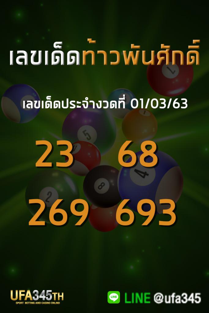 หวยท้าวพันศักดิ์ เลขเด็ด 01/03/63