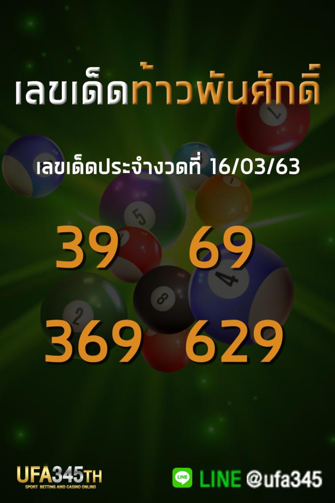 หวยท้าวพันศักดิ์ เลขเด็ด 16/02/63